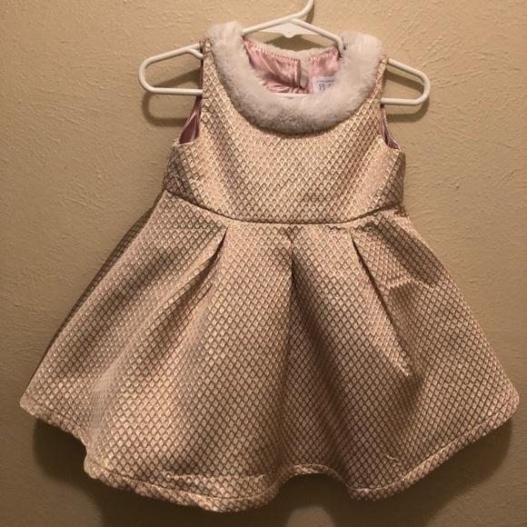 Children S Place Dresses Girl Rose Gold Dress Poshmark
